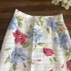 Harold's Skirts - SOLD Harold's Linen Floral Maxi Skirt